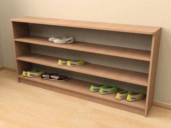 Простейшая модель полочки для обуви