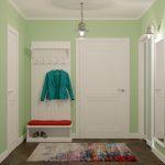 Открытая вешалка для постоянно используемой одежды