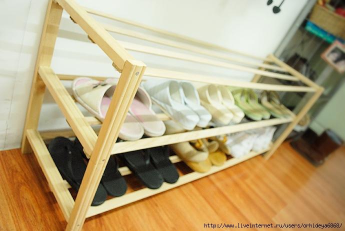 Простая полка своими руками для обуви