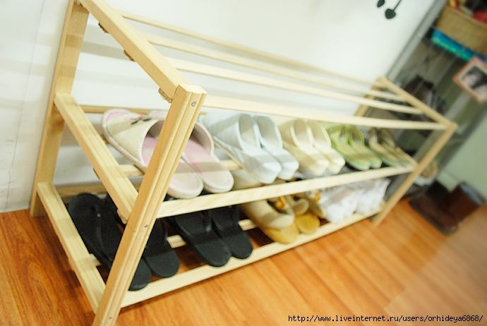 Фото полки для обуви своими руками