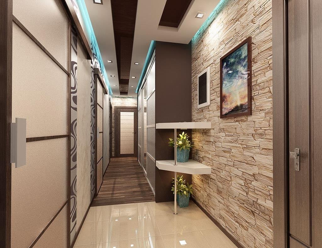 Дизайн коридора в квартире фото реальные комбинированными
