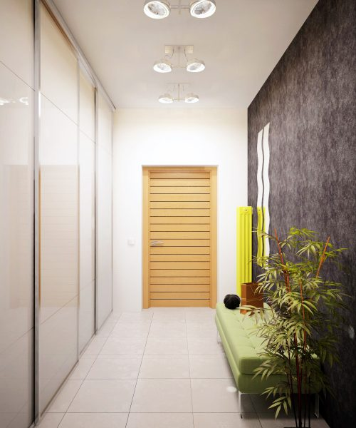 Дизайн прихожей в квартире с высокими потолками