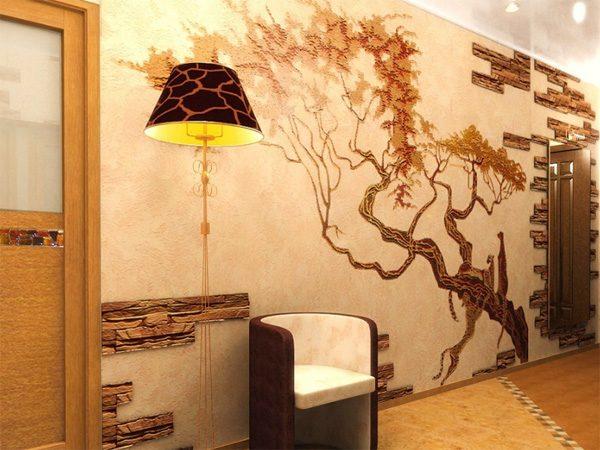 Экзотика – такой стиль характеризуется рисунками с экзотическими растениями, представителями тропической флоры и фауны, закатами солнца.