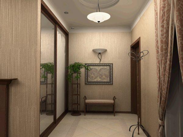 Обои должны быть выполнены в общем цветовом исполнении квартиры и быть удобны и просты в уходе.