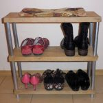 Полочка для обуви сделанная своими руками