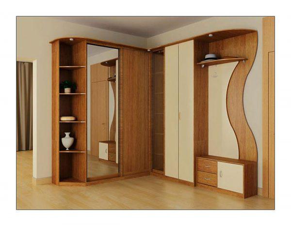 Угловой шкаф с дополнительными элементами