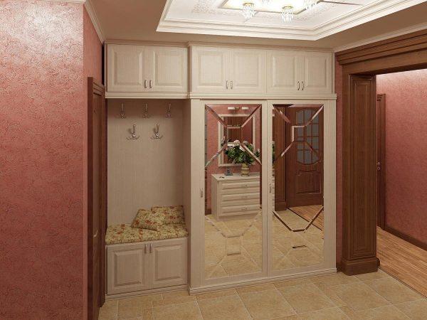 Прихожие в узкий коридор, различные варианты покрытий