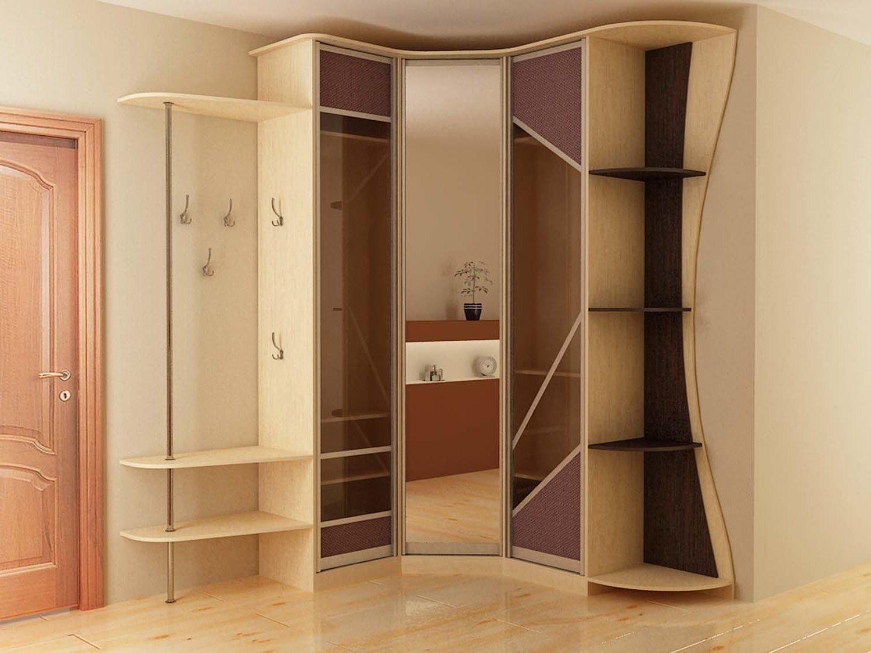 Угловой шкаф в узкую прихожую.