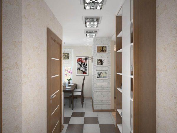 Дизайн светлой прихожей 30 см для узкого коридора