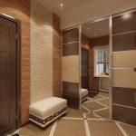 Бамбуковые панели в оформлении снен в прихожей