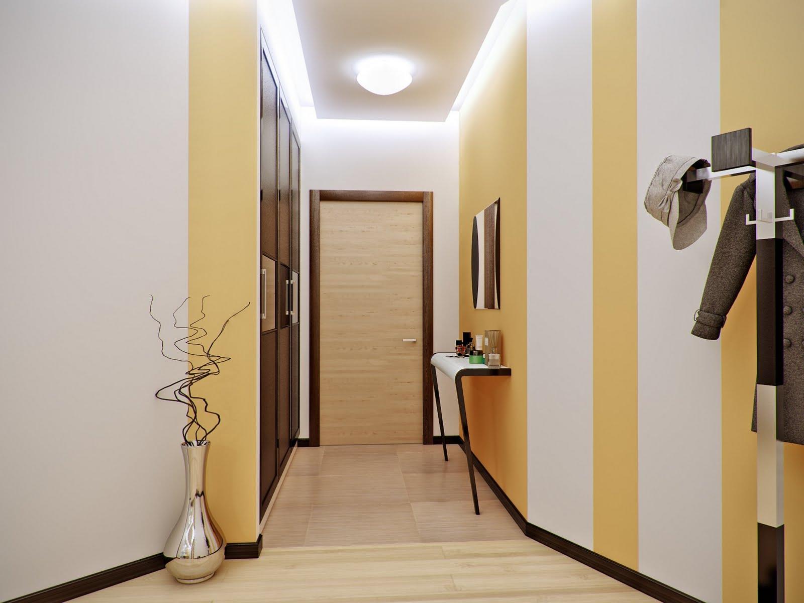 """""""рыскал"""", Оформление стены в коридоре квартиры Все будет"""