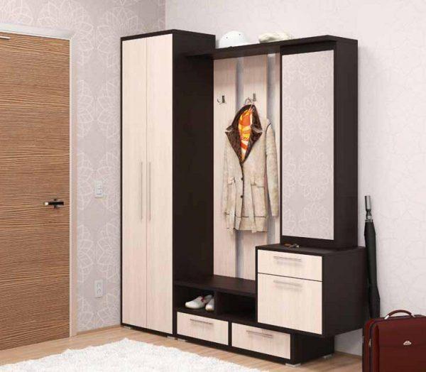 Угловой шкаф в прихожую в стиле минимализм