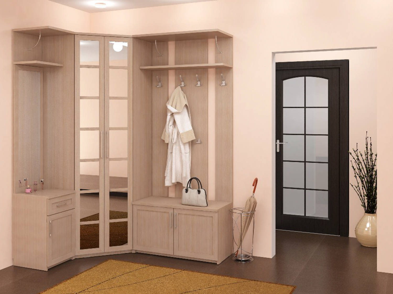 Дизайн углового шкафа в коридор 123