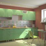 Салатовая кухня в интерьере - Фото