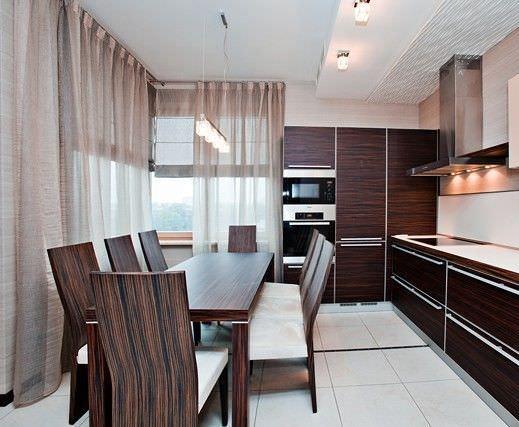 Дизайн интерьера кухни 14 кв.м