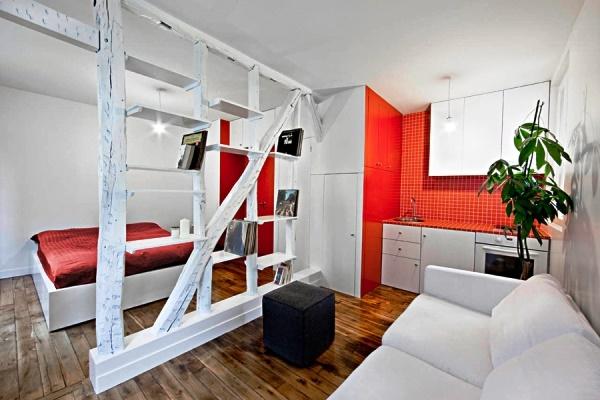 Дизайн квартиры-студии площадью 26 кв