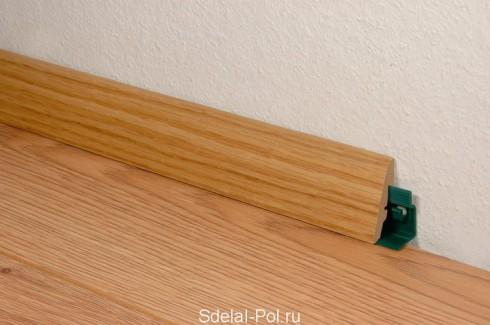 Правила установки плинтуса из МДФ на напольное покрытие
