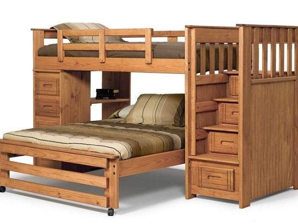 Двухъярусные детские кровати из дерева своими руками