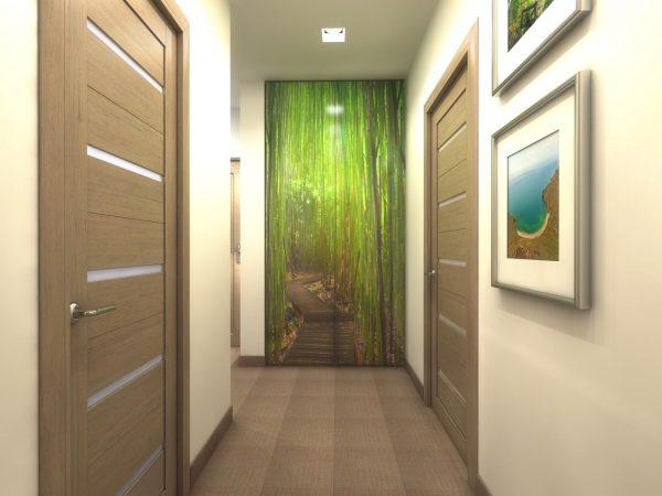 Пример удачной окраски с ярким акцентом на одной из стен