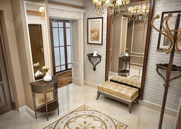 Большое зеркало-еще одна отличительная черта Английского стиля